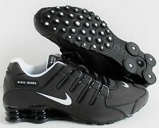 NIKE MEN SHOX NZ SL BLACK-WHITE SZ 10 [366363-009]