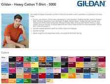 75 Blank Gildan Heavy Cotton T-Shirt Wholesale Bulk Lot ok to mix S-XL & Colors