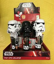 DISNEY Star Wars LOLLIPOP POP UPS Darth Vader Stormtrooper CONFEZIONE DA 12 COMPLETA caso BIP