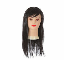 LONG BLACK WITCH WIG STRAIGHT FRINGE HALLOWEEN WIG MORTICIA BEWITCHED