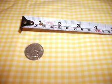"Gingham Yelo Cotton Fab 1/8"" Check 2yd Smocking Apron Chicken Scratch Embroidery"