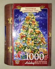 Teddybear Christmas Tree 1000 Piece  Jigsaw Puzzle HOLIDAY GLITTER Masterpieces