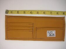 """Langlitz Leathers""  TAN Wallet Goatskin Leather Portland Oregon USA Goat Skin"