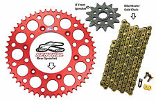 Renthal Red Sprocket and Gold Chain Kit Honda CRF250r CRF Crf250 04-15 13-50T