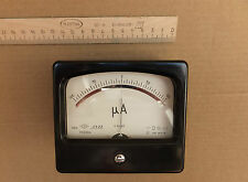 DC 100-0-100uA Analog Current Panel Meter, USSR 1984, Professional Device. NOS