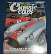 Thoroughbred & Classic Cars January 1986 Rover 105S,Bugatti Type 37,Fiat Turbina