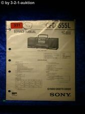 Sony Service Manual CFD 555L Cassette Corder (#0331)