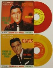 ELVIS PRESLEY PROMO COLORED VINYL 45 RECORD SINGLES KING OF THE WHOLE WIDE WORLD