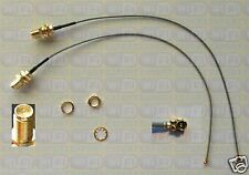 """2 Mini 8"""" PCI U.FL to RP-SMA Antenna WiFi Pigtail Cable"""