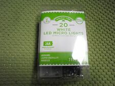 20 LED Battery Powered LED Micro Lights Green Wire white or Red or Green or Blue