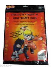 Pack de 10 feuilles NARUTO de classeur A4 rangement 9 pochettes pour cartes 4053