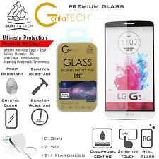 100% Genuine Gorilla Tech Tempered Glass Film Screen Protector Shield For LG G4