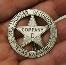 Texas Ranger Co D Frontier Battalion Peso Repro Old West Texas Badge