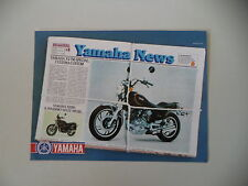 advertising Pubblicità 1981 MOTO YAMAHA XV 750 CUSTOM SPECIAL