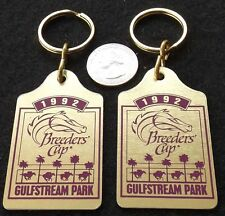 A P INDY - LOT OF (2) 1992 BREEDERS CUP HORSE RACING KEY RINGS - GULFSTREAM PARK