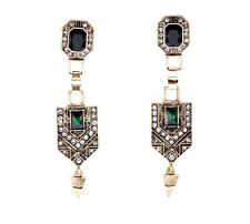 Vintage Style Drop Crystal Statement Earrings Zara
