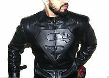 Superman logo Leather Jacket Stylish Slim Fit Faux Leather Jacket