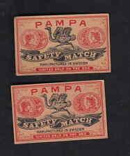 Anciennes  étiquettes allumettes  Suède  BN7549 Autruche