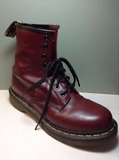 Doc Dr Martens Boots Shoes Maroon US 8 UK 6 Air Wair 8 Eyelet Leather EUC