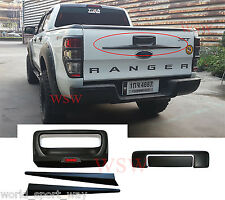 REAR GATE HANDLE COVER TRIM BLACK ACCENT COVER SET FIT FOR 11-16 FORD RANGER T6