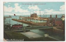 Lowestoft, The Bridge & Harbour IXL Postcard, B446