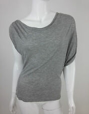 Diesel New Women's Taclo Short Sleeve Blouse Size S Color Grey Made In Italy