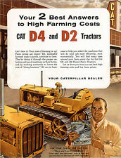 Caterpillar D2 D4 & Toolbars Sales Brochure 1956
