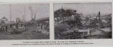 1928  --  EFFETS D UN OURAGAN SUR LE BRIQUETERIE DE BARBERY PRES SENLIS  3B647