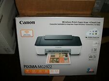 Canon Pixma MG2922 WIRELESS All-In-One Inkjet Printer NO INK NO USB CABLE  2922