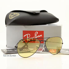 NEW AUTHENTIC RAY BAN AVIATOR RB3025 006/4A 58MM BLACK FRAME YELLOW LEN LIMITED