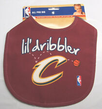 NBA NWT INFANT ALL PRO BABY BIB - ALL MAROON - CLEVELAND CAVALIERS