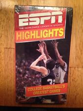College Basketball's Greatest Games ESPN Highlights VHS