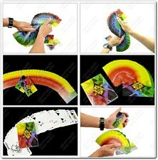 THIN FANNING MANIPULATION 4 WAY CHANGING COLOUR FAN CARDS DECK STAGE MAGIC TRICK