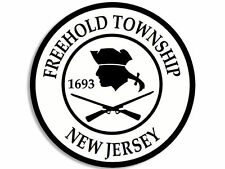 "FREEHOLD TOWNSHIP NEW JERSEY CITY SEAL 4"" HELMET STICKER DECAL MADE IN USA"