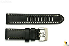 Luminox 1809 Field Auto 23mm Black Leather Watch Band Strap w/ 2 Pins