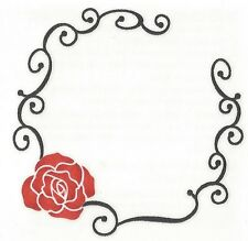 Belly Button Red Rose Temporary Tattoo