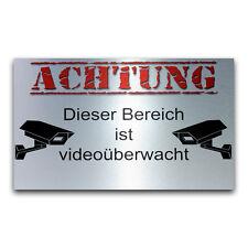Warnschild Achtung dieser Bereich ist videoüberwacht aus AluVerbund