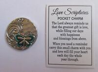 b LOVE comes from a pure heart butterfly SCRIPTURES POCKET TOKEN CHARM ganz