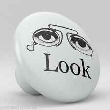 Eye Glasses Look Design Ceramic Knobs Pulls Drawer Cabinet Vanity 866 Cupboard
