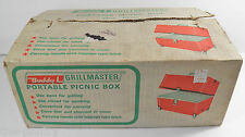 VTG BUDDY L GRILLMASTER RED PORTABLE PICNIC BOX 1552 CHARCOAL BARBEQUE BBQ NOS
