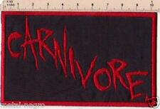 CARNIVORE EMBROIDER PATCH THRASH METAL CELTIC FROST TYPE O NEGATIVE Metal Negro
