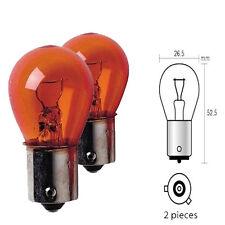 Ampoule Clignotant pour Peugeot 307 12V 21W Culot BAU15S PY21W Orange - 830