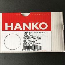"""HANKO Sandpaper 6"""" PSA Disk 120 Grit Pet Film 100 Pieces No Hole 34-3020-0120"""