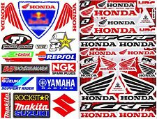 2SHEET HONDA WING CRF ROCKSTAR MAKITA RACING STICKER DIE-CUT VINYL DECAL RACING