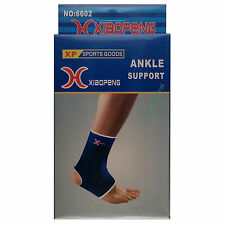 2x NEOPRENE SPORTS ANKLE SUPPORT WRAP STRAP BRACE INJURY TENDON SPRAIN PROTECTOR
