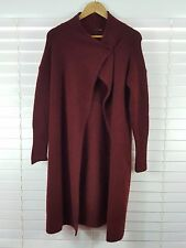COUNTRY ROAD sz S (or 10 - 12 ) womens burgundy mohair blend knit cardigan