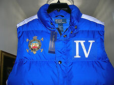Polo Ralph Lauren Snow Blue/White Down Puffy Vest Mens(men's)Large(L) new