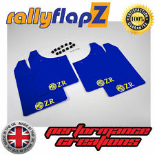 rallyflapZ ROVER MG ZR (01-05) Hatchback Mud Flaps Blue 3mm PVC Logo Yellow