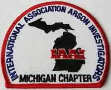 IAAI International Association Arson Investigators Michigan Chapter Cloth Patch