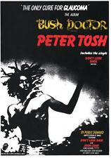 PETER TOSH  POSTER. WAILERS,  BUSH DOCTOR. Bob Marley.